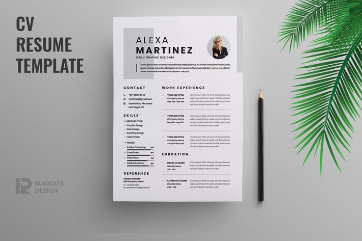 Thumbnail for Minimalist CV  Resume R46 Template