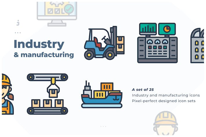 Thumbnail for 25 Industry and manufacturing icon
