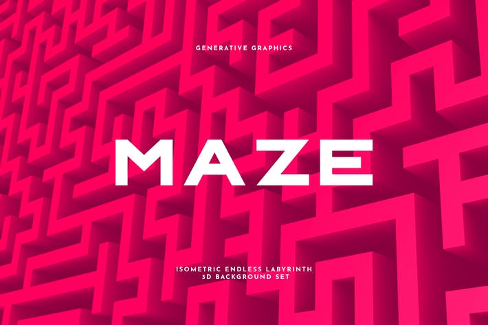 Thumbnail for Endless Maze 3D Background Set