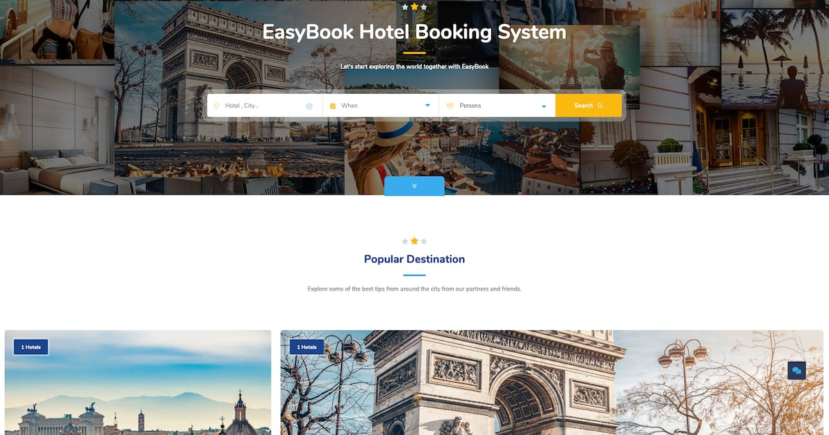 Download EasyBook – Hotel & Tour Booking WordPress Theme by cththemes