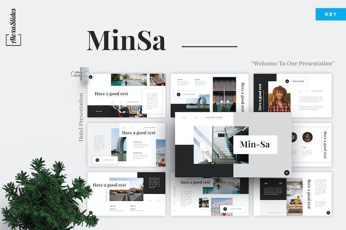Thumbnail for MinSa - Hotel Keynote Template