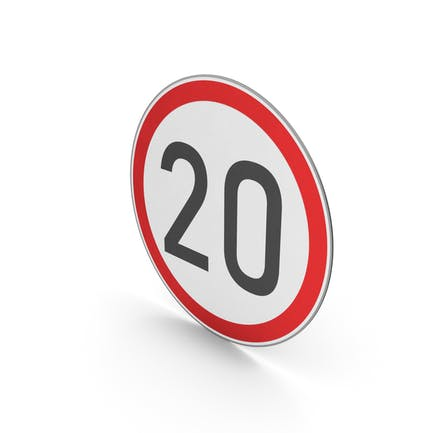 Road Sign Speed Limit 20
