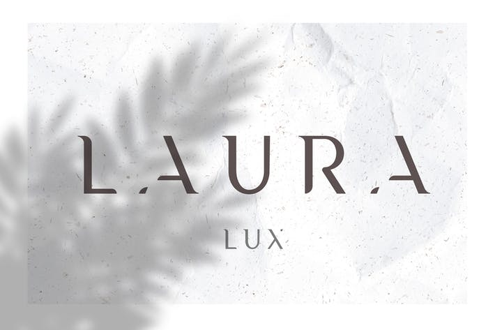 Laura - A Minimal Luxury Font