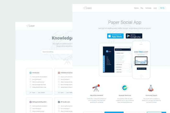 Thumbnail for Paper - Product & Knowledgebase Template