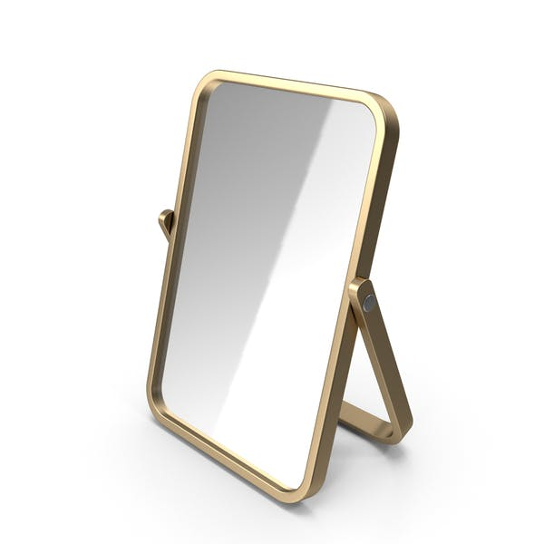Gold Double Sided Makeup Mirror