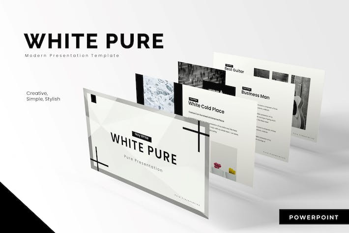 Thumbnail for White Pure - Powerpoint Template