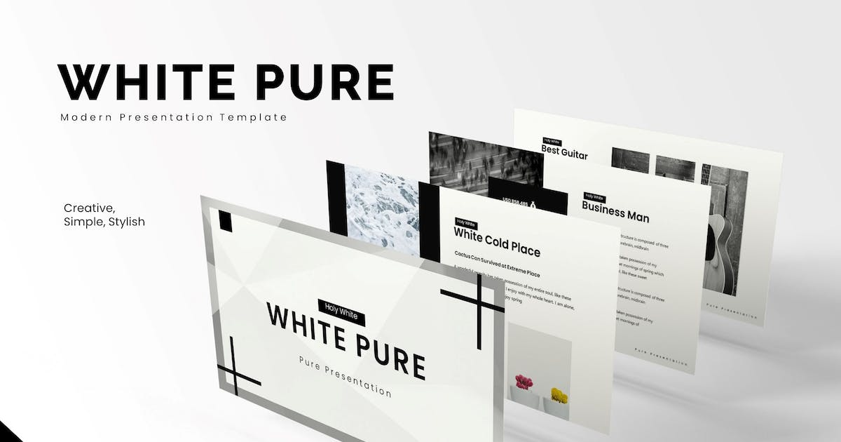 Download White Pure - Powerpoint Template by karkunstudio