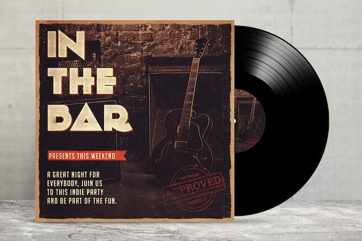 Cover Image For Vinyl Mock Up Template Vol 02
