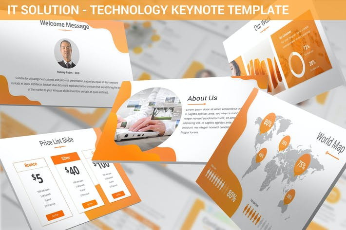 Thumbnail for IT Solution - Technology Keynote Template