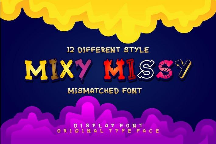 Thumbnail for Mixy Missy - Fuente de pantalla divertida