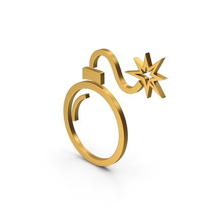 Symbol Bomb Gold