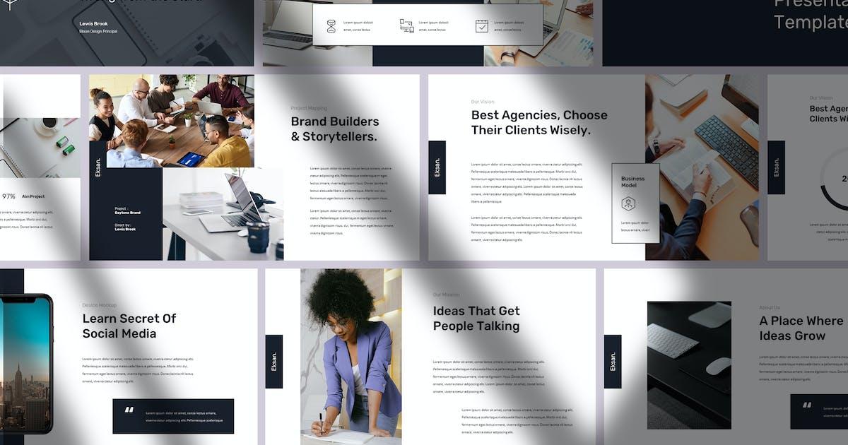 Eksan - Simple and Elegant Powerpoint by Slidehack