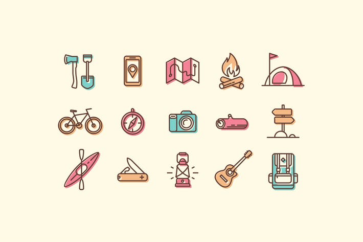 Thumbnail for Camping and Hiking Icons