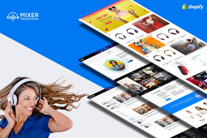 Thumbnail for Mixer - Headphone & Audio Responsive Shopify Theme