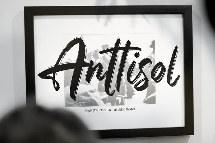 Thumbnail for Anttisol - Handwritten Brush Font