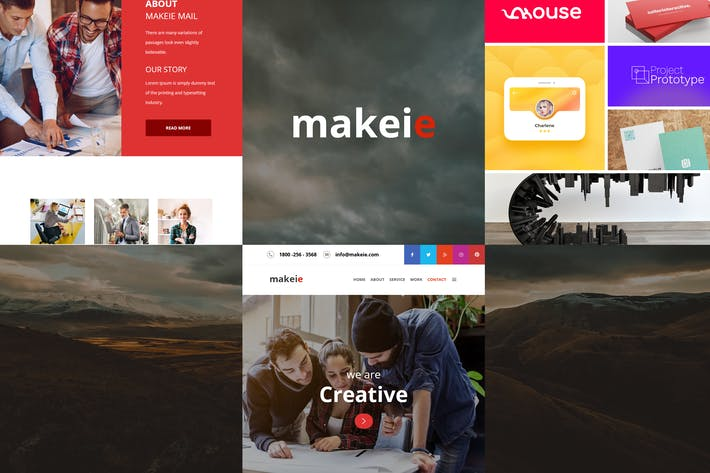 Thumbnail for Makeie - 30+ Modules E-mail Templates