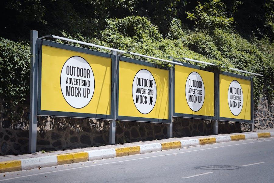 Outdoor Billboard Advertising Mockup Template #5