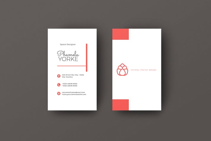 Thumbnail for Vertical Business Card Designer