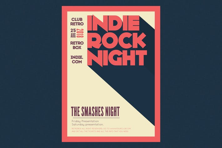 Thumbnail for Indie Rock Night Flyer Poster