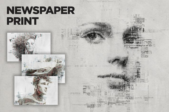 Thumbnail for Newspaper Print Photoshop Action CS3+