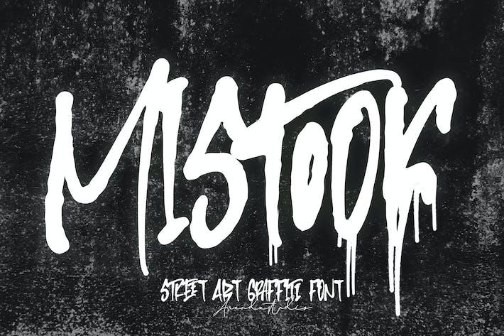 Mistook - Street Art Graffiti Font