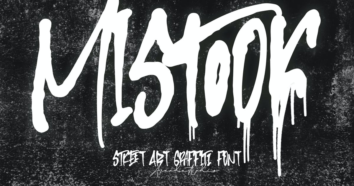 Download Mistook - Street Art Graffiti Font by arendxstudio