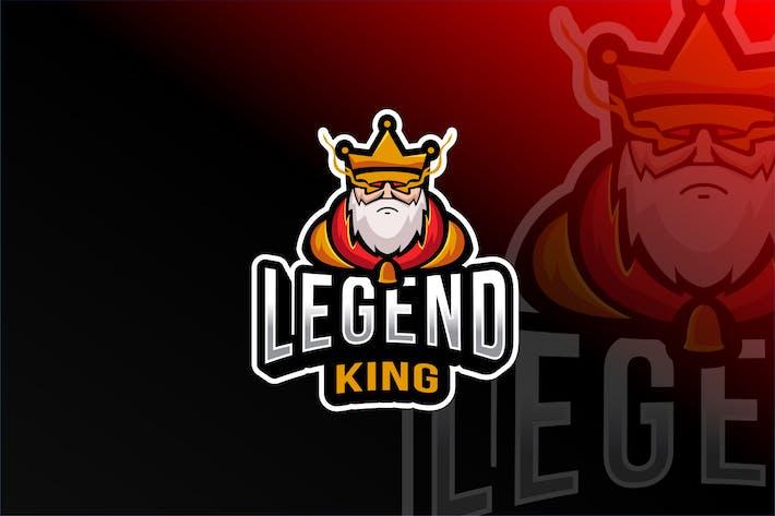 Legend King Esport Logo Template
