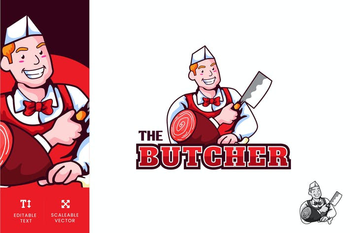 Thumbnail for Butcher Logo Illustration Vector