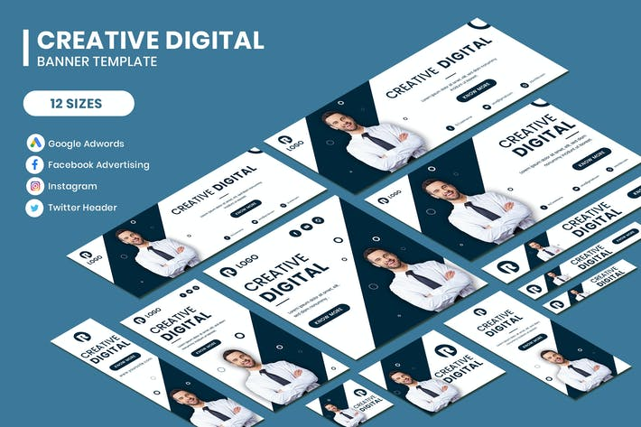 Thumbnail for Creative Digital Google Adwords Banner Template