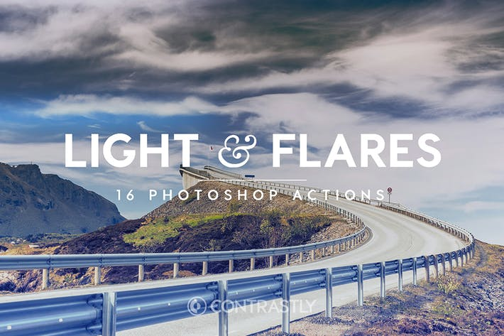 Thumbnail for Light & Flares Photoshop Actions