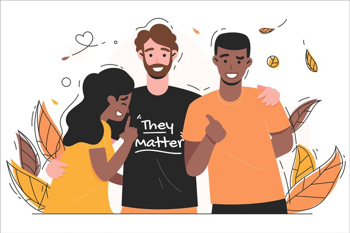 Thumbnail for Friendship - Flat Illustration