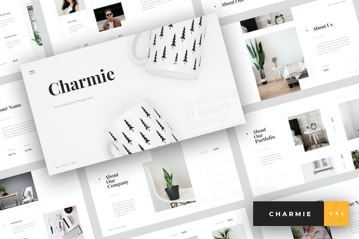 Thumbnail for Charmie - Creative Google Slides Template