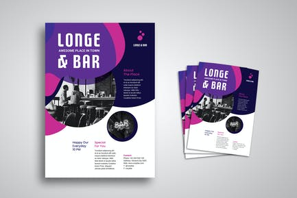 Lounge and Bar Flyer Promo Template