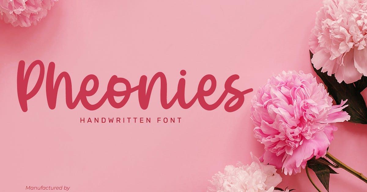 Download Pheonies-Handwritten Font by YumnaStudio
