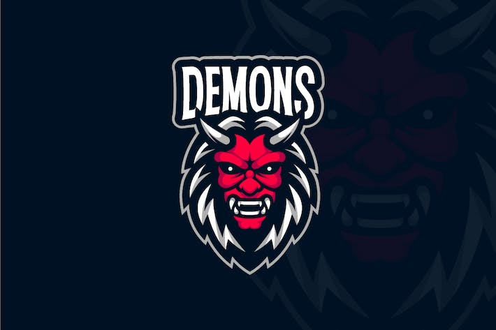 Thumbnail for Oni Demon Mascot Logo