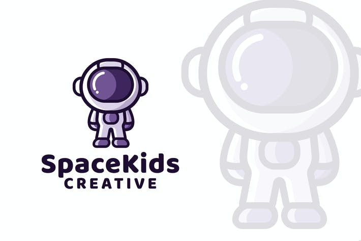 Thumbnail for Space Kids Logo Template