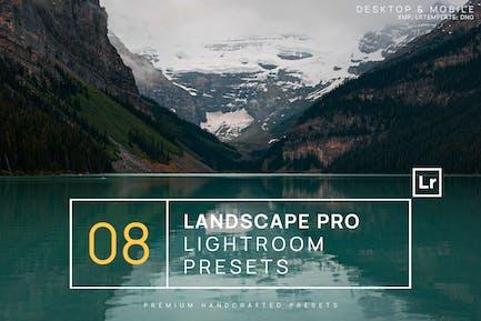 8 пресетов Landscape Pro Lightroom + Мобильный