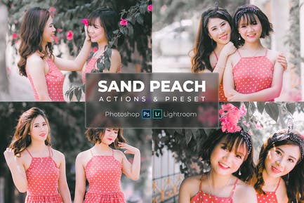 Actions & Presets - Sand Peach Style