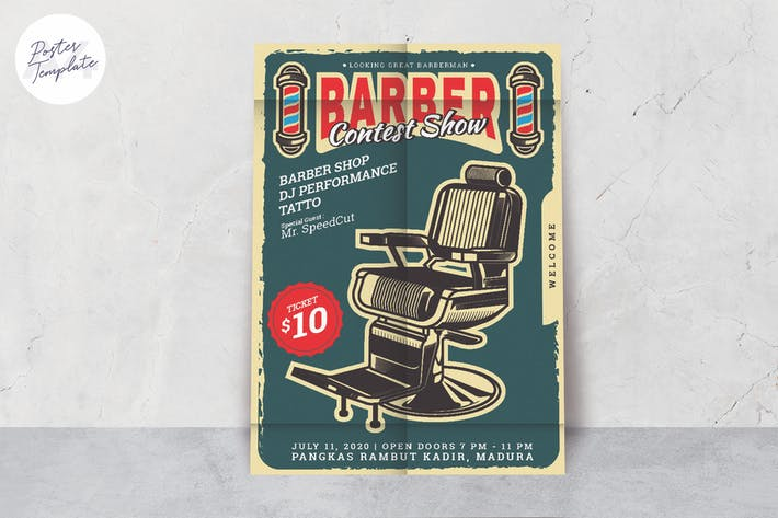 Thumbnail for Barber Shop Poster Template