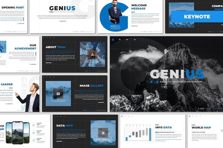 Genius - Многоцелевой Шаблон Keynote