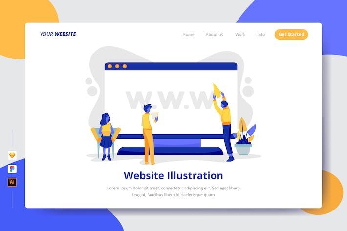 Thumbnail for Website Illustration - Landing Page