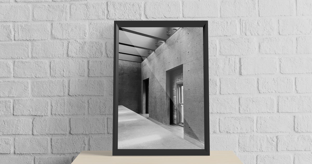 Download Realistic A3 Frame Mockup V3 by IanMikraz