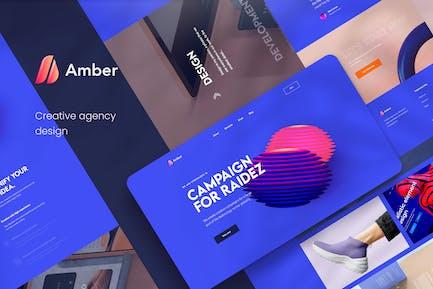Amber - Kreative Agentur PSD Vorlage