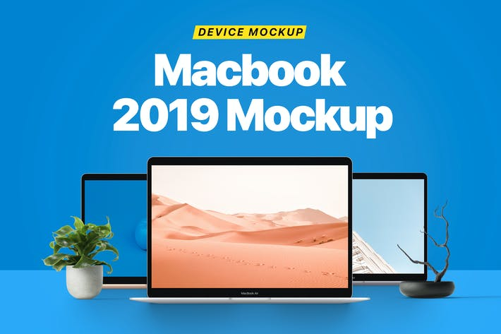 Cover Image For Macbook 2019 Mockup
