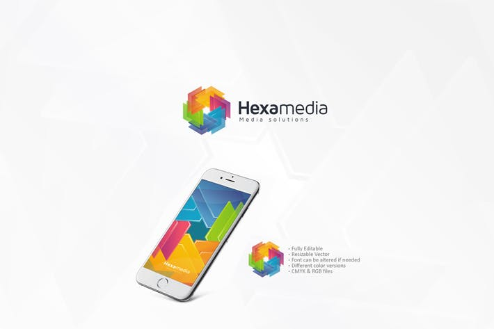 Cover Image For Hexagon Colorful Logo