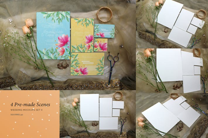 Thumbnail for Wedding Invitation Mockup Set II