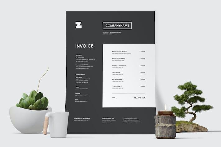 Minimal Invoice Template 49