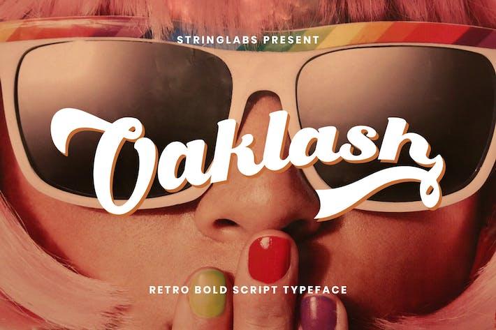 Thumbnail for Oaklash - Retro Bold Script Font
