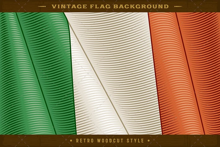 Thumbnail for Vintage Flag Of Italy. Close-up Background