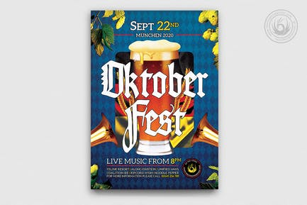 Oktoberfest Flyer Template V13